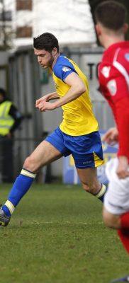 Tom Gardiner in action against Ebbsfleet United