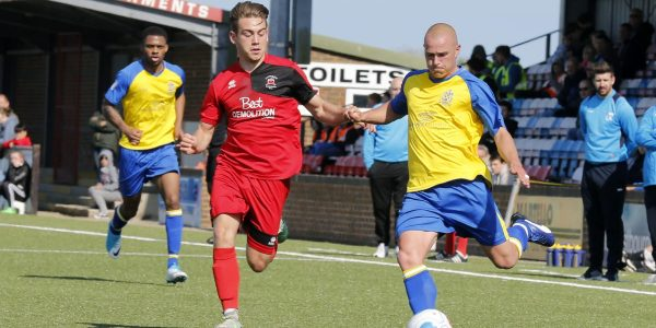 Ben Herd in action against Eastbourne Borough