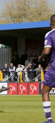 Shaun Lucien looks on as his shot goes close