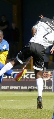 Solomon Sambou drives the ball towards goal