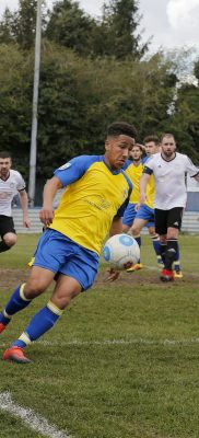 Zane Banton in action against Hungerford Town