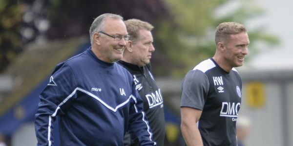 Saints manager Ian Allinson alongside his former assistant – Harry Wheeler