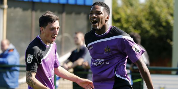 Layne Eadie joins Shaun Lucien to celebrate the equaliser
