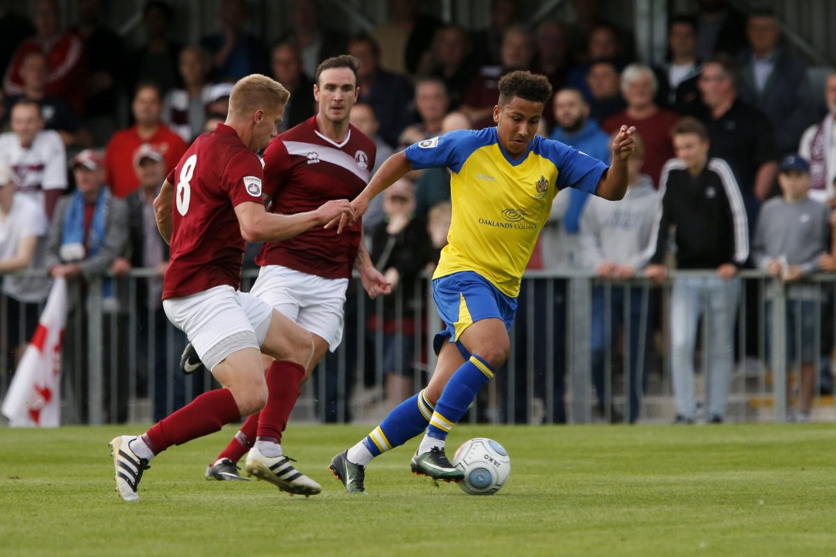 Zane Banton in action against Chelmsford City