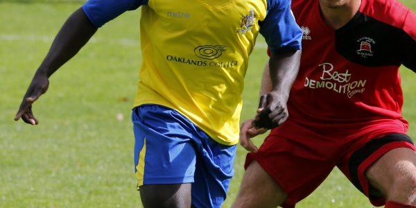 Solomon Sambou in action against Eastbourne Borough