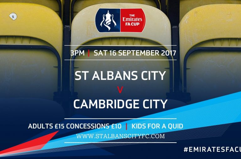 Cambridge City (H) Emirates FA Cup Preview