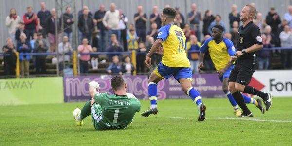 Banton wheels away after scoring his goal