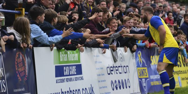 Charlie Walker celebrating with the fans