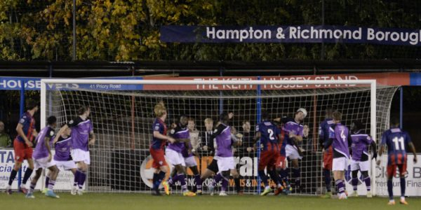 Wassmer's header  hits the back of the Saints net