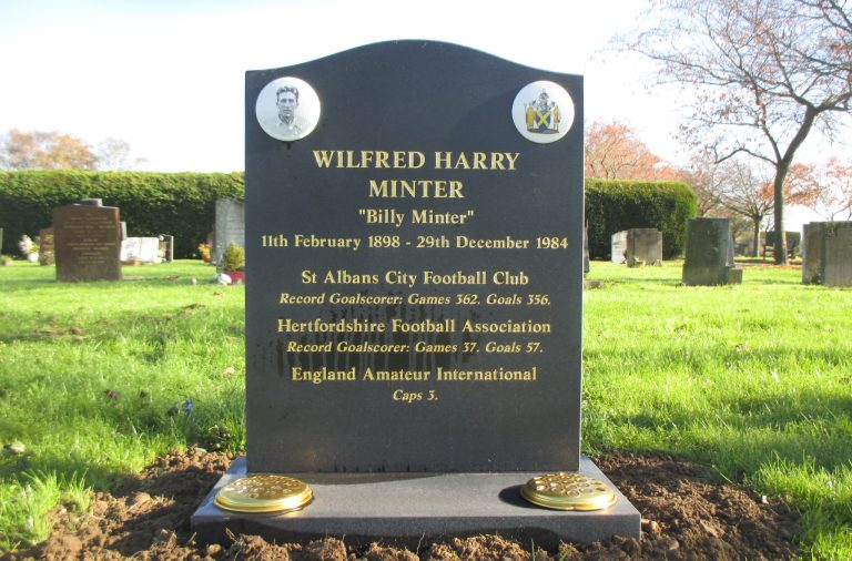 Headstone for Wilfred Minter