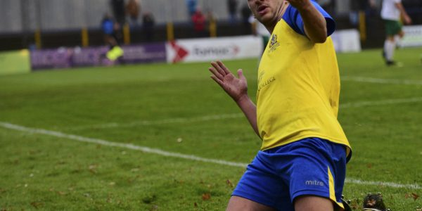 Sam Merson celebrates his goal