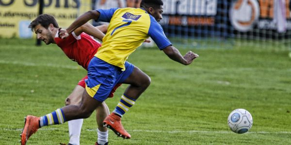 Shaun Lucien skips past the Welling defense