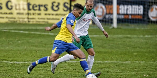 Zane Banton in action against Bognor Regis Town