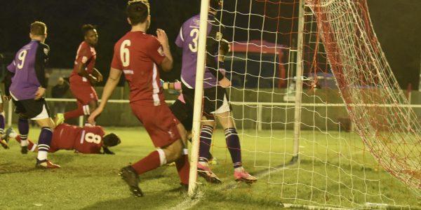 Kieran Monlouis gets the winning goal