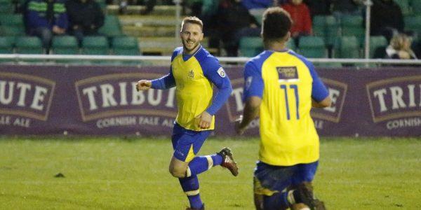 Charlie Walker celebrates his goal