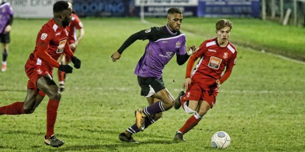 Kieran Monlouis secured the Saints passage through to the second round of the FA Trophy