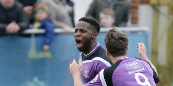 Rhys Murrell-Williamson enjoys scoring the opening goal