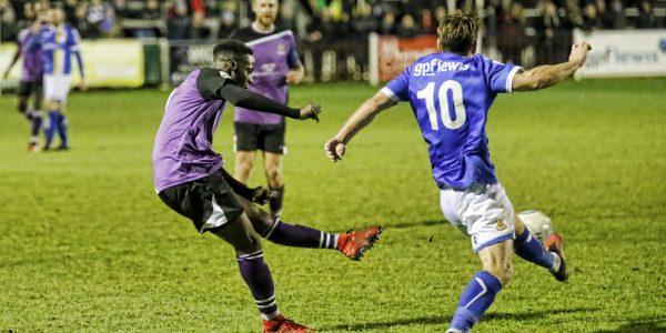 Rhys Murrell-Williamson scores a brace for the Saints
