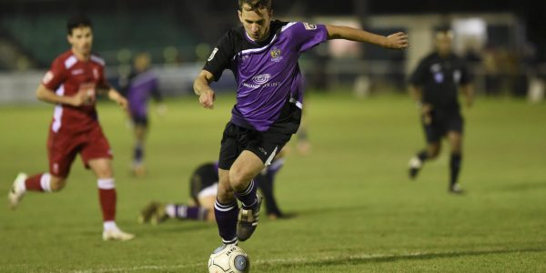 Sam Merson in action against Whitehawk