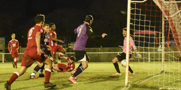 Kieran Monlouis scores the winning goal