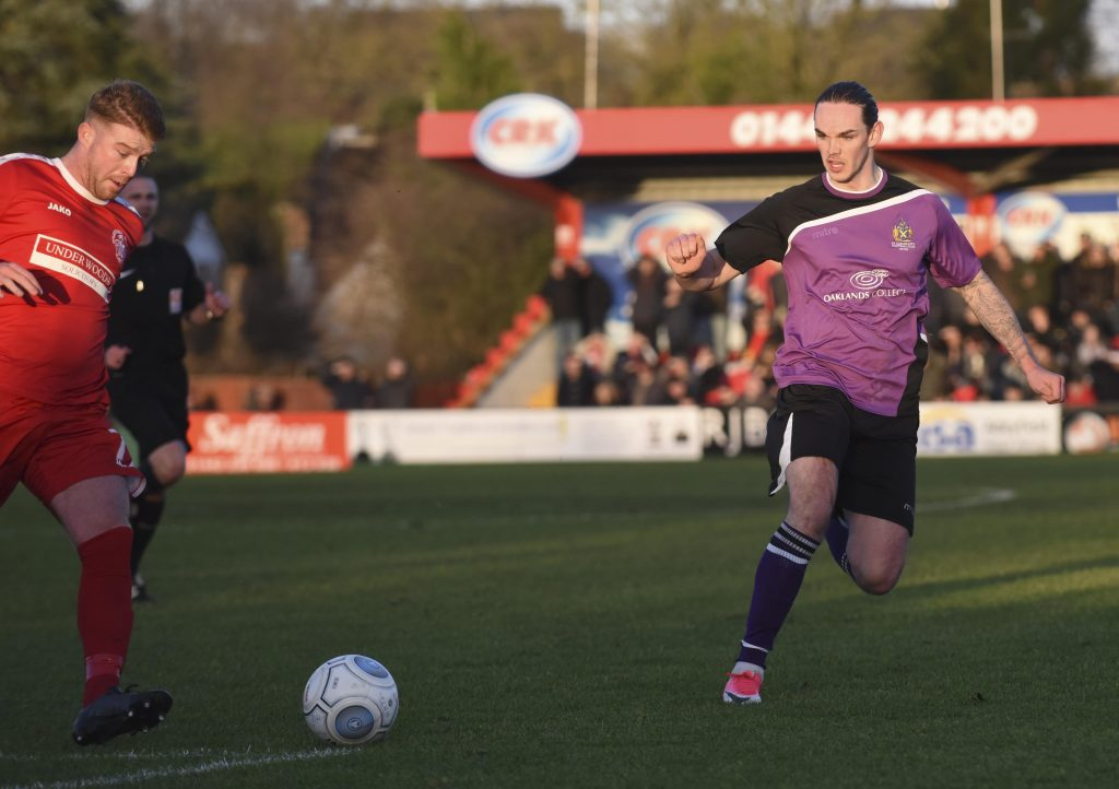 Tom Bender in action at Vauxhall Road