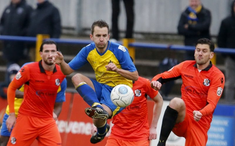 Sam Merson in action against Dartford