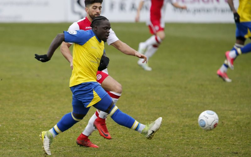 Solomon Sambou in action Poole Town